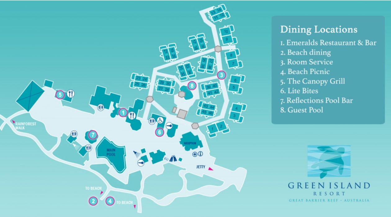 Green Island dining map